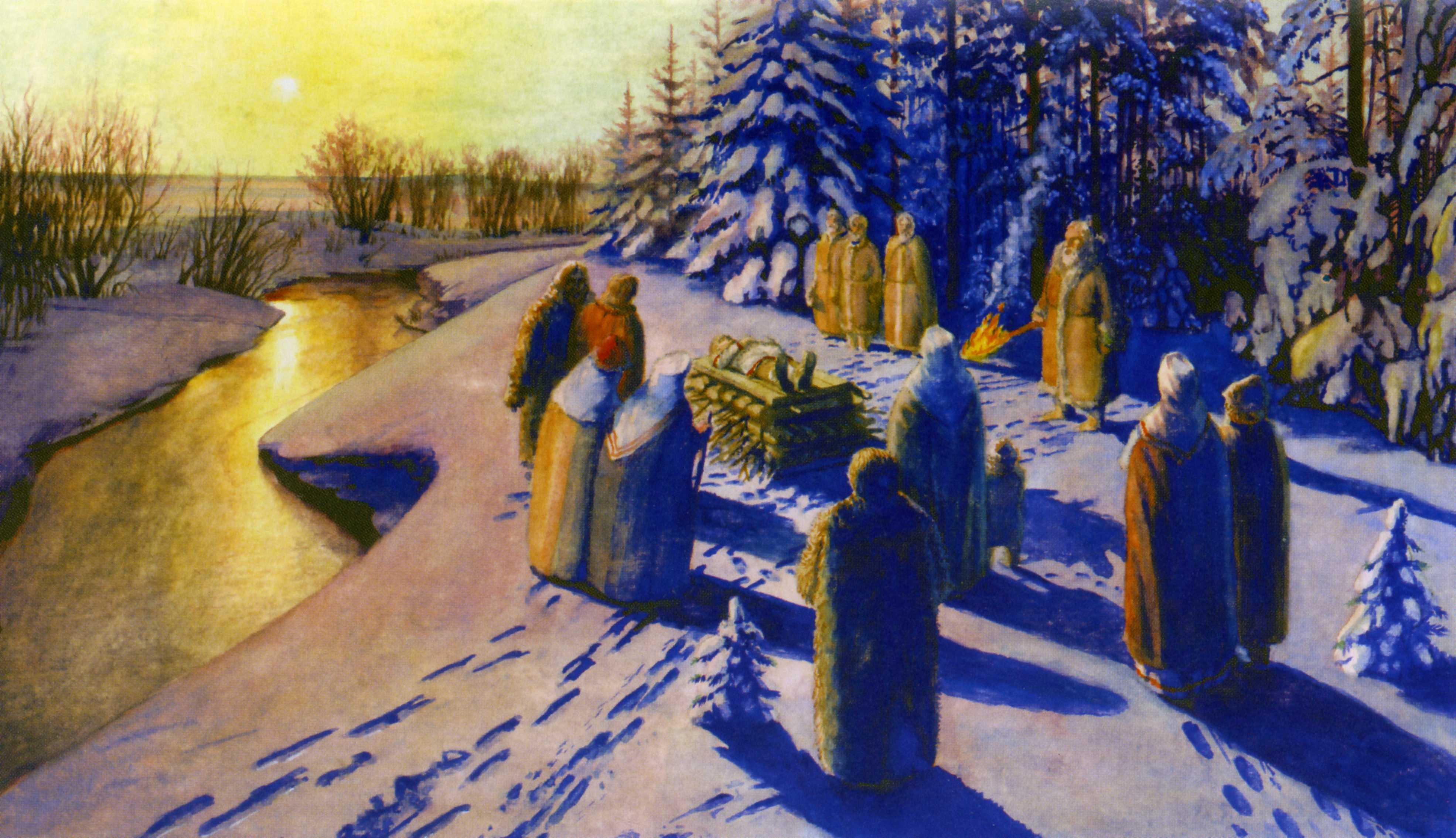 Обычаи погребения в православных традициях